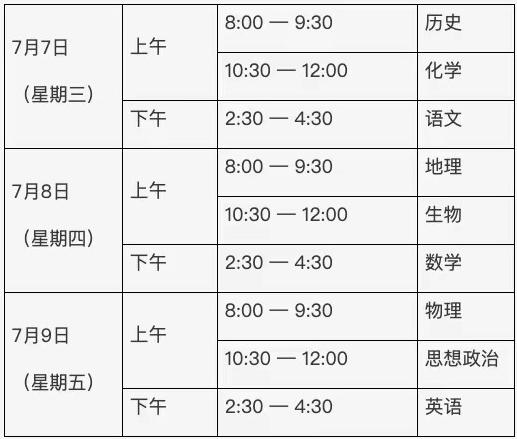北京市第二次普通高中學業水平合格性考試于7月7日至9日進行